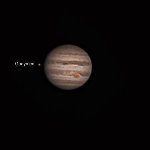 Jupiter mit Ganymed nachdem dieser sich im Laufe der Nacht hinter ihm hervor schlich